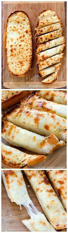 Składniki: Bochenek włoskiego chleba (myślę że zwykły biały też da radę ;) ) 1/2 szklanki roztopionego masła 1-2 łyżeczek czosnku w proszku (wg uznania) 1 i 1/2 szklanki startej...