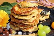 Placki z cukinii z masłem orzechowym i mąką żytnią