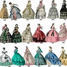 Moda lata 1849 - 1866.