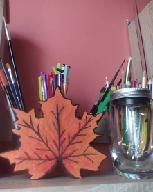 Jesień już u mnie zawitała. Organizer diy :)