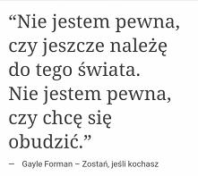 """""""Zostań jeśli kochasz"""" Gayle Forman"""