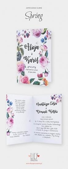 Kwiatowe zaproszenia ślubne z kolekcji Spring