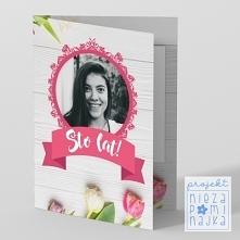"""Kartka """"Tulipany"""" ze zdjęciami WZÓR Oprócz zdjęcia, które możesz w niej umieścić, kartka zawiera miejsce  na odręczne wpisanie swoich życzeń lub dedykacji.  WYKONANIE ..."""