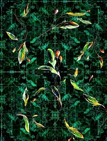 Liście na zielonym dywanie