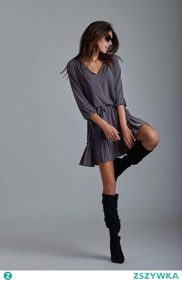 bfc93b06a9 Sukienka Roksana od IVON Lekka w stylu boho idealna do kozaków .. na ...