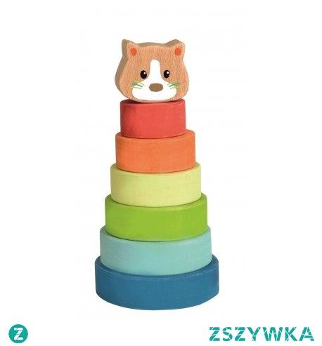"""Witajcie,   Dzisiaj rozpoczęcie nowego roku szkolnego:) Gratulacje!  Czas na obudzenie """"szarych komórek"""" po """"wakacyjnym uśpieniu"""":)   Klasyczna, drewniana Piramida Kotek od Egmont Toys 511058.   Elementy piramidy nie są układane na pręcie, ale każdy kawałek pasuje do poprzedniego - Takie małe utrudnienie:)  Idealna rozgrzewka:)"""