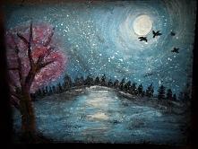 malowane na drewnie
