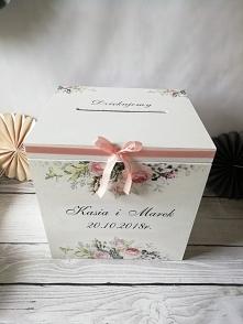 Pudełko na koperty ślubne. Zapraszam do sklepu DECOREN