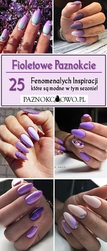 Fioletowe Paznokcie: TOP 25 Fenomenalnych Inspiracji na Fioletowy Manicure Kt...