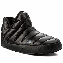 Kapcie THE NORTH FACE - Thermoball Traction Bootie T93MKHYXA Shiny Tnf Black/...