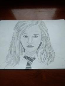 Mój kolejny rysunek, nadal ćwiczę rysowanie twarzy, kogoś Wam przypomina?:):)...