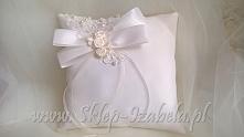 Poduszka na obrączki ecru ślub