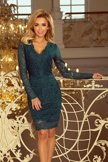 Koronkowa zielona sukienka ...