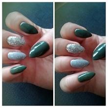 zieleń i srebro