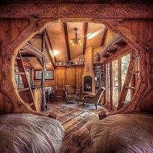 Wnętrze jak z Hobbita...
