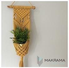 kwietnik makrama, dekoracje jesienne