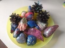 kamienie, muszle i szyszki ...