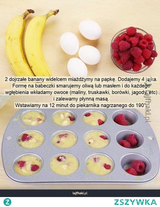 szybkie muffiny bananowe
