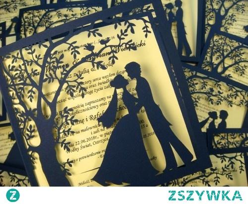 Ażurowe Wycinane Zaproszenie Na ślub Więcej Na Stronie Jotstud Na