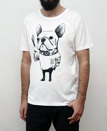 Koszulka z Buldogiem Francuskim Bad Boy