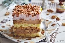 Ciasto orzechowo - truflowe