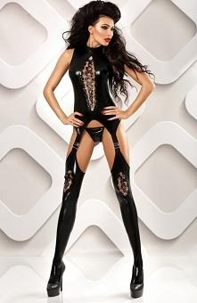 Lolitta Horny bodystocking Niesamowicie seksowne bodystocking, które zniewoli Twojego partnera , wykonane zostało z czarnej tkaniny typu wetlook, fason świetnie dopasowuje się d...