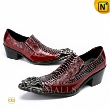 Black Friday 2018 | CWMALLS® New York Men Printed Leather Dress Shoes CW70820...