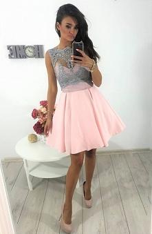 Sukienka modna z koronką