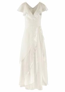 Suknia ślubna bonprix kremowy