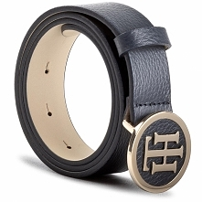 Pasek Damski TOMMY HILFIGER - Th Round Buckle Belt 3.0 AW0AW05366 75 413