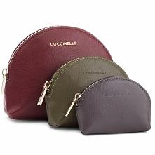 Zestaw kosmetyczek COCCINELLE - CV0 Travel Items E5 CV0 25 B0 05 Grape/Caper/Fum