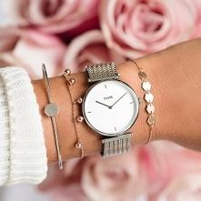 Zegarek Cluse CL61001 Silver White/Silver Rose Gold to wyjątkowy zegarek,który zyskał dwa kolory: klasyczne srebro oraz popularne różowe złoto!