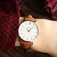 Zegarek Cluse to propozycja, która będzie idealna na tegoroczną jesień! Brązowy, skórzany pasek w połączeniu z białą tarczą tworzy zgraną całość, którą doceni każda kobieta!