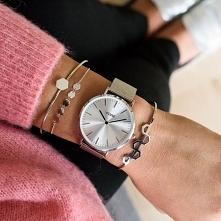 Srebrny zegarek Cluse na bransolecie typu mesh to świetna propozycja dla kobiet, które szukają nietuzinkowej ozdoby!