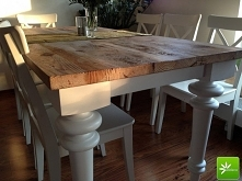 Stylowy stół z blatem z pra...
