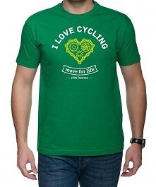 Koszulka T-SHIRT.  I love cycling