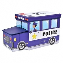 Pufa pojemnik Policja kosz na zabawki