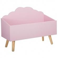 SCHOWEK, kufer na zabawki  - kolor różowy, 58 x 28 x 45 cm