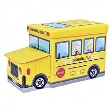 Pufa pojemnik Autobus kosz na zabawki