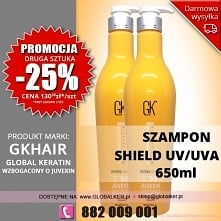 Global Keratin GK Hair szampon color shield UV/UVA 650ml shampoo - sklep wars...