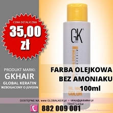 Global Keratin farba olejkowa bez amoniaku 100ml GK Hair oil color ammonia fr...