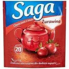 SAGA 20x1,7g Żurawina Herbata owocowa