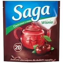 SAGA 20x1,7g Wiśnia Herbata owocowa