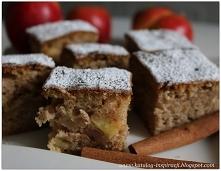 ciasto jabłkowo - gruszkowe z cynamonem