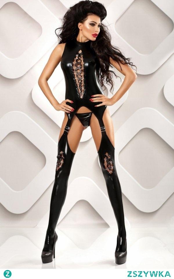 Lolitta Horny bodystocking Niesamowicie seksowne bodystocking, które zniewoli Twojego partnera , wykonane zostało z czarnej tkaniny typu wetlook, fason świetnie dopasowuje się do sylwetki podkreślając jej krągłości