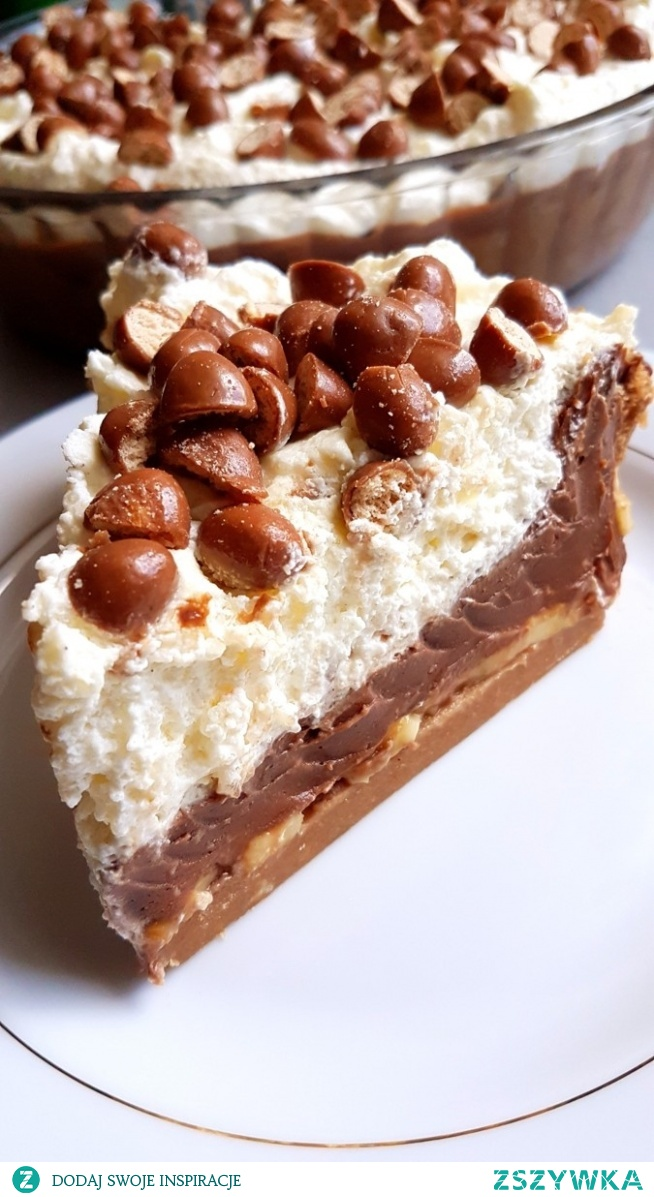Pyszne ciasto bez pieczenia - ciasteczkowo-czekoladowy obłoczek.