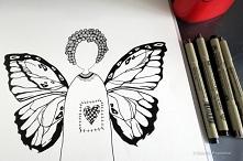 Anioł Zentangle