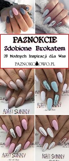 Modne Paznokcie Zdobione Brokatem: TOP 28 Pięknych Inspiracji na Brokatowy Ma...
