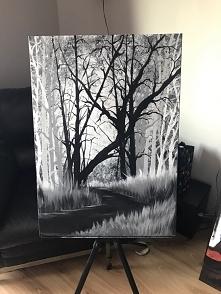 mój obraz namalowany z Bobem Ross <3