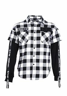 Czarno-Biała Koszula Invariably